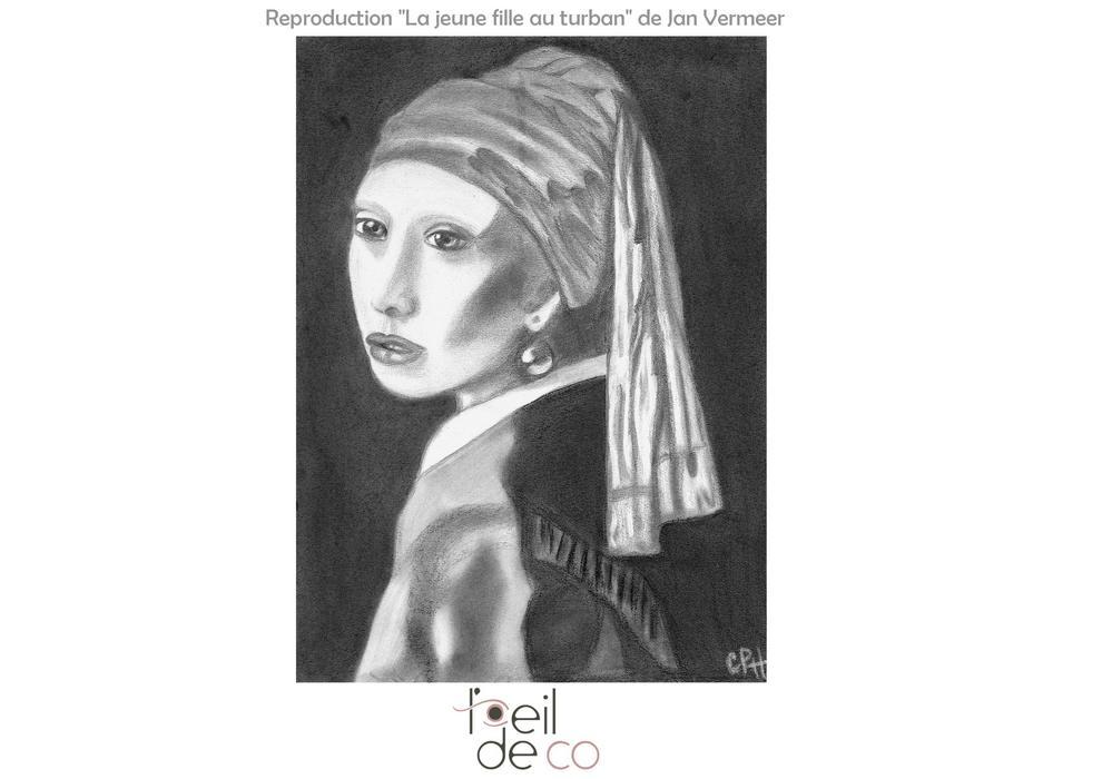 Dessin_JeuneFilleAuTurban_Vermeer_portfolio