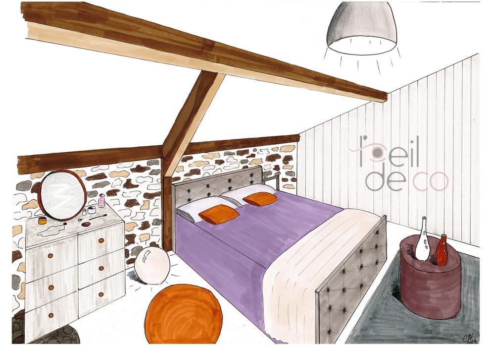 Petite Salle De Bain Zen : perspective_chambre_SousPente_portfolio