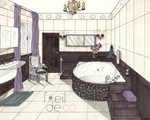 Salle de bain Zen – Perspective