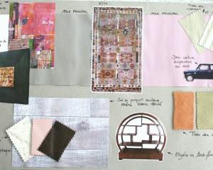 Planche tendance – Inspiration d'une décoration à partir d'un tapis en killim
