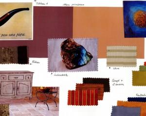 Planche tendance – Travail autour de la couleur d'une pierre «Labradorite»