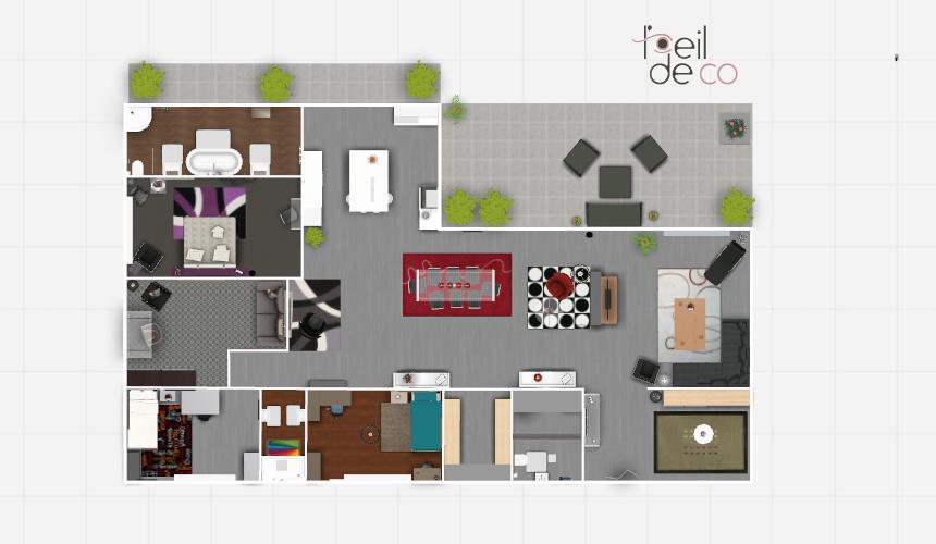 Creer un plan de maison vous entrerez de votre choix une for Creer interieur maison 3d