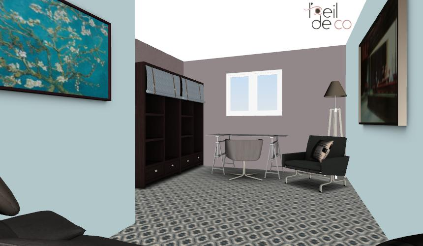 l 39 oeil de co 20 bureau vue 3 l 39 oeil de co. Black Bedroom Furniture Sets. Home Design Ideas