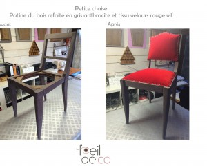 Chaise rouge !