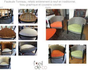 Fauteuils Tonneau à Vincennes