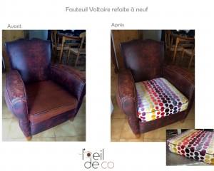 Création du coussin d'un fauteuil Club
