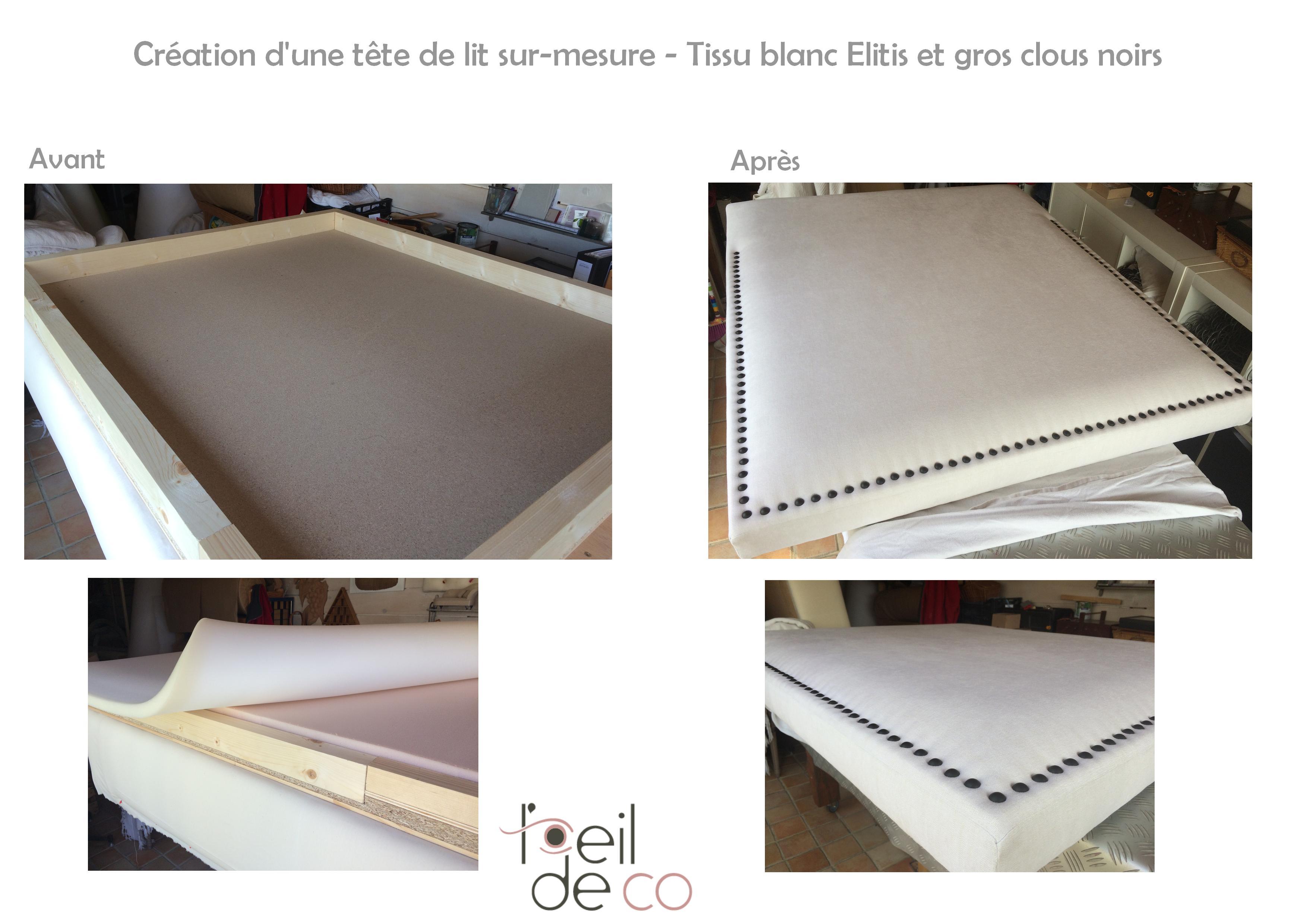 Tete-de-lit-Création-tissu blanc