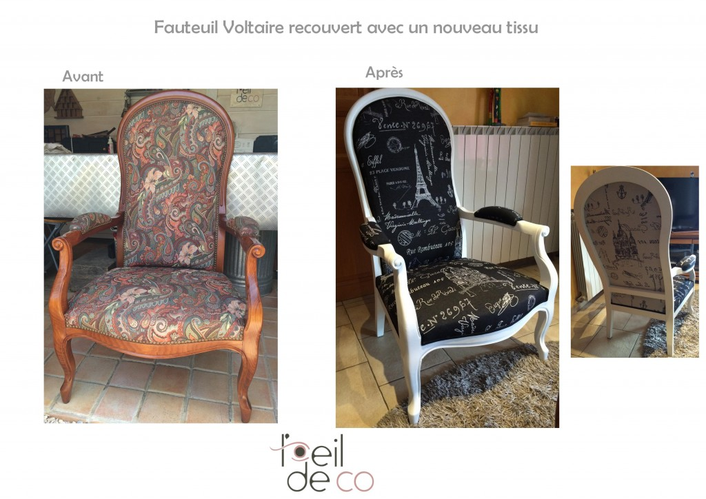 l 39 oeil de co fauteuil voltaire tissu paris l 39 oeil de co. Black Bedroom Furniture Sets. Home Design Ideas
