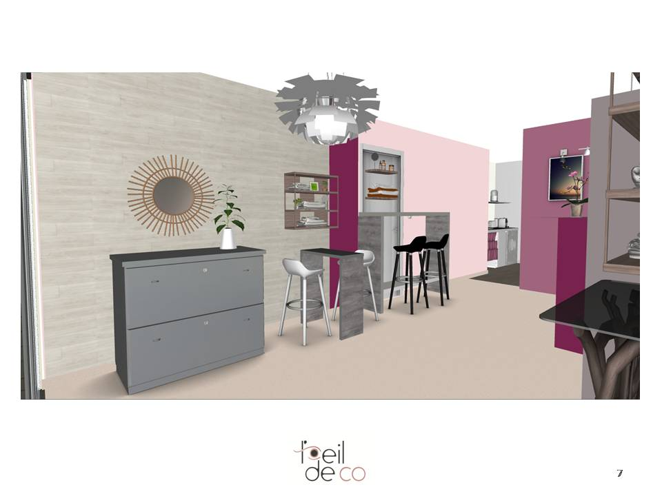 l 39 oeil de co am nagement int rieur d 39 un futur institut de beaut l 39 oeil de co. Black Bedroom Furniture Sets. Home Design Ideas