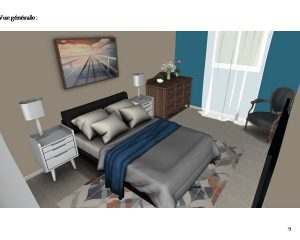 Aménagement d'une chambre à coucher