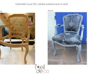 Cabriolet Louis XV refait à neuf