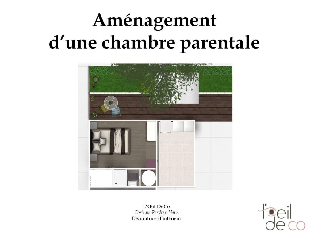 L 39 oeil de co am nagement d 39 un garage en chambre parentale for Amenagement chambre parentale