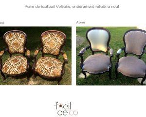 Paire de fauteuils Voltaire style Louis-Philippe