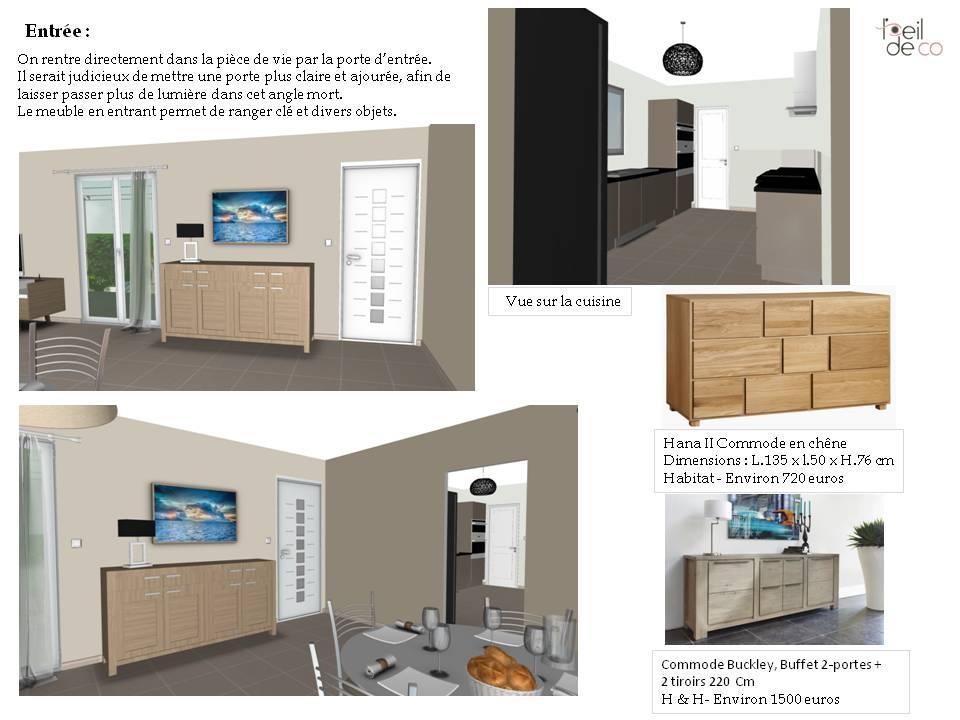 l 39 oeil de co am nagement d 39 un salon salle manger dans un pavillon l 39 oeil de co. Black Bedroom Furniture Sets. Home Design Ideas