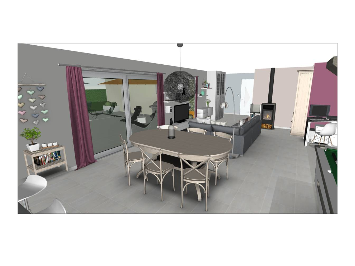 l 39 oeil de co am nagement du rez de chauss e d 39 une maison contemporaine l 39 oeil de co. Black Bedroom Furniture Sets. Home Design Ideas
