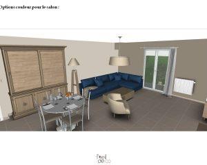 Aménagement d'un salon/salle à manger dans un pavillon