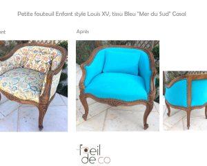 Petit fauteuil Enfant Louis XV