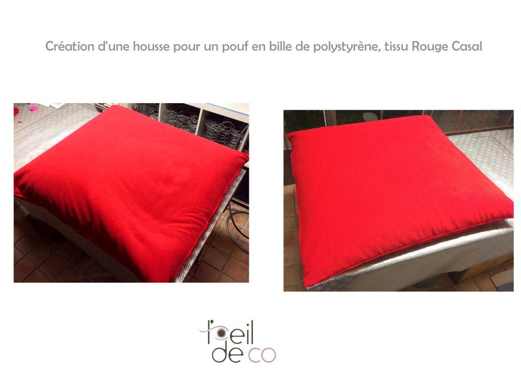 l 39 oeil de co cr ation d 39 une housse pour un pouf l 39 oeil de co. Black Bedroom Furniture Sets. Home Design Ideas