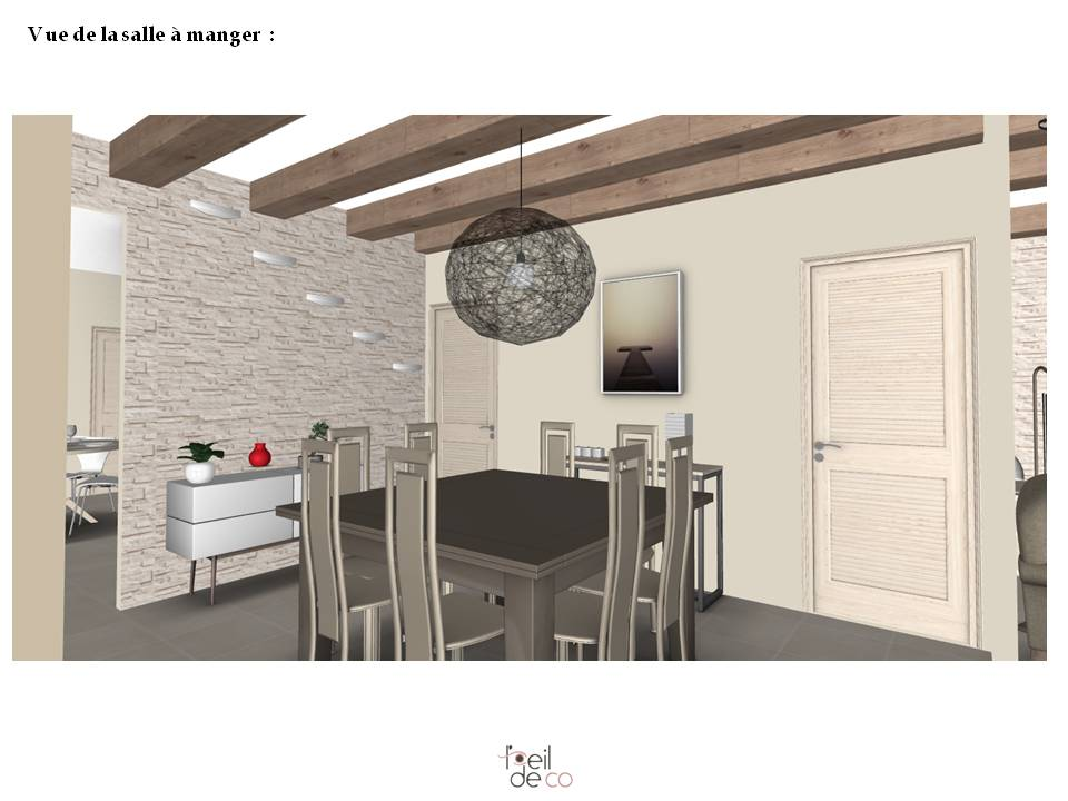 Partager with dessin salle a manger perspective for Interieur et design