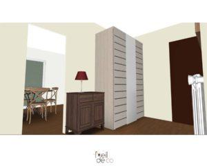 Réaménagement d'un couloir et d'une cuisine