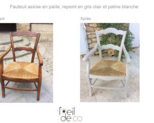 Relooking d'un fauteuil
