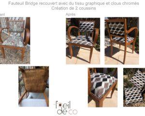 Fauteuil bridge Tissu graphique