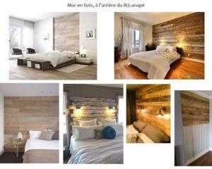 Planche tendance et couleurs pour une chambre…