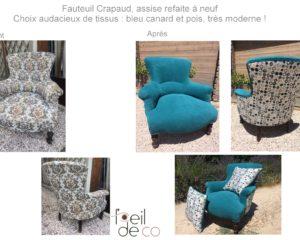 Nouvelle vie pour ce fauteuil Crapaud !